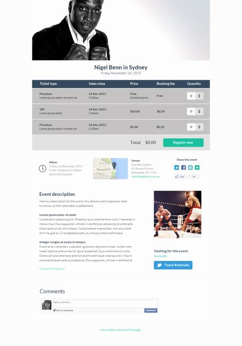 Event Registration Landing Page Beautiful attendly event Registration Page Redesign