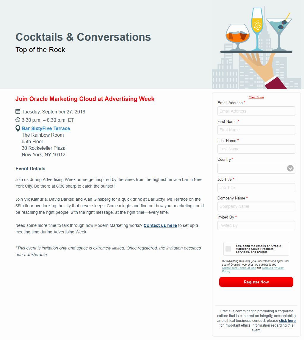 Event Registration Landing Page Inspirational Landing Page Examples