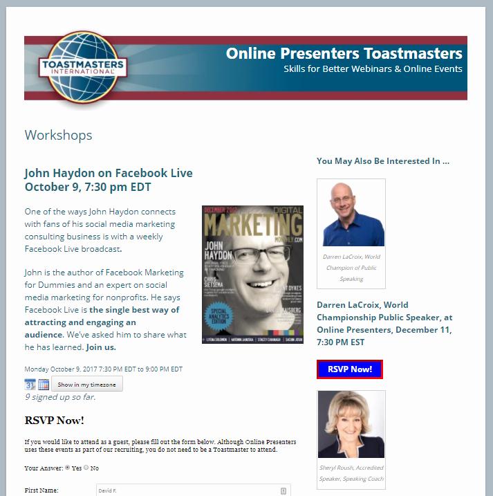 Event Registration Landing Page Unique Creating An events Registration Landing Page with Rsvpmaker