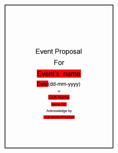 Event Sponsorship Proposal Pdf Beautiful event Proposal Template Free Download Create Edit Fill Print Wondershare Pdfelement