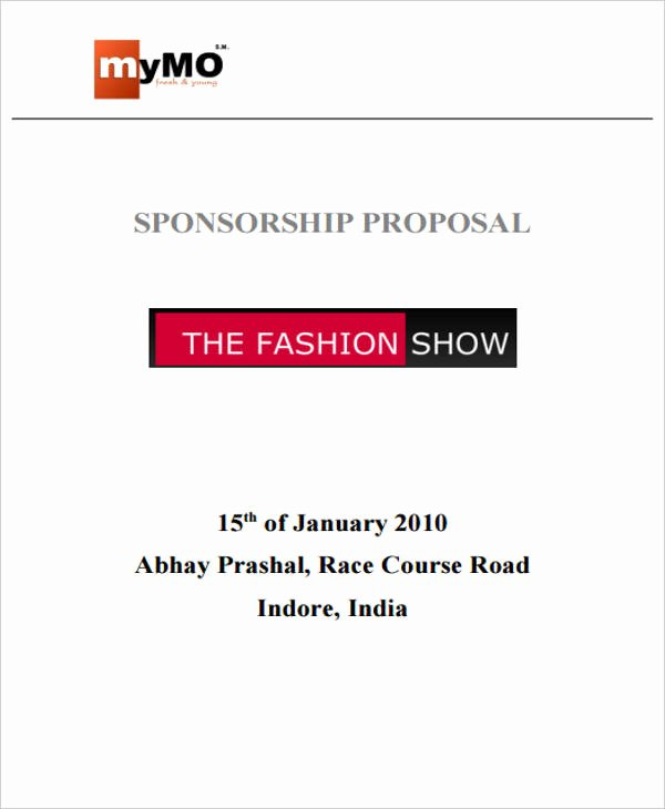 Event Sponsorship Proposal Pdf Luxury 43 event Proposals In Pdf