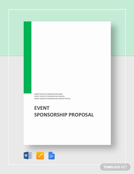 Event Sponsorship Proposal Pdf New 28 event Proposal Templates Pdf Doc