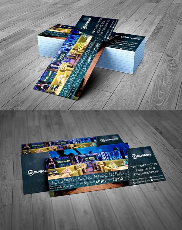 Event Ticket Template Photoshop Best Of event Ticket Free Psd Template Free Psd Files
