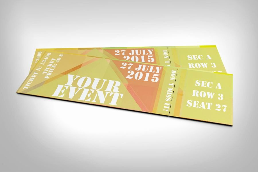 Event Ticket Template Photoshop Elegant Free Abstract event Ticket Mock Ups for Photoshop