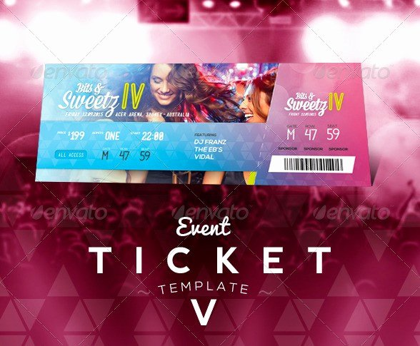 Event Ticket Template Photoshop Fresh 46 Print Ready Ticket Templates Psd for Various Types Of events Psdtemplatesblog