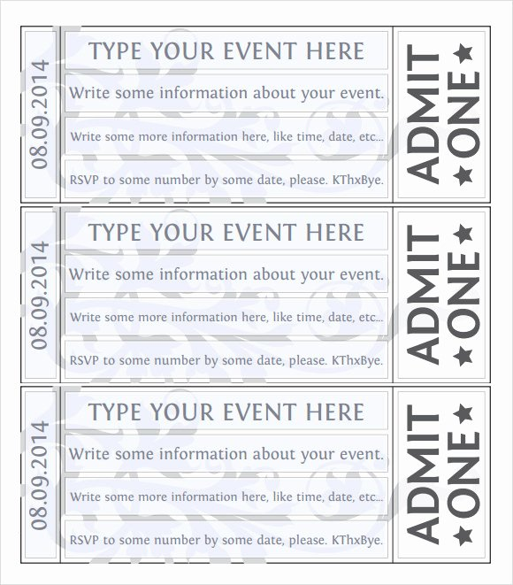Event Ticket Template Photoshop Luxury Free 38 Sample Amazing event Ticket Templates In Illustrator Indesign Ms Word
