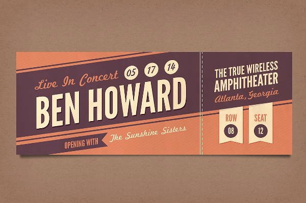 Event Ticket Template Photoshop New 14 Vintage Ticket Templates Psd Ai Word