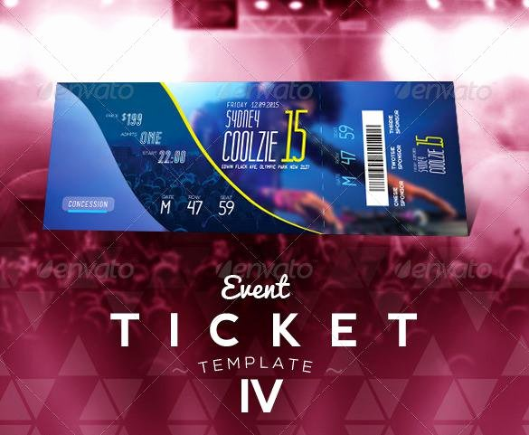 Event Ticket Template Photoshop New 81 Ticket Templates Free Download