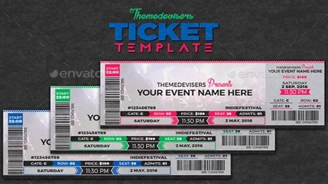 Event Ticket Template Photoshop Unique 11 Concert Ticket Templates In Psd for Shop