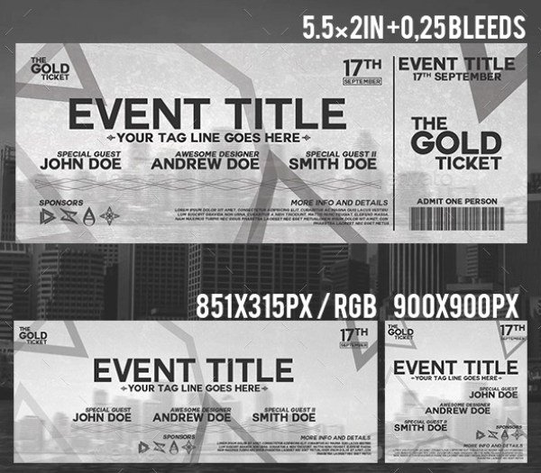 Event Ticket Template Photoshop Unique 46 Print Ready Ticket Templates Psd for Various Types Of events Psdtemplatesblog
