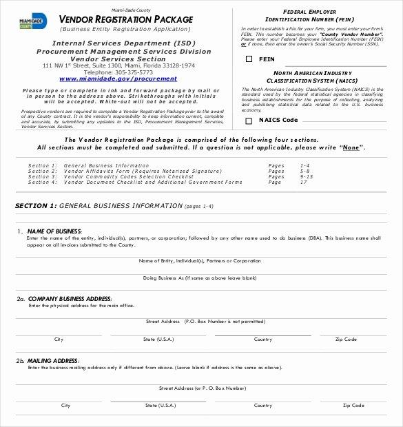 Event Vendor Registration form Luxury 10 Vendor Application Templates – Free Sample Example format Download