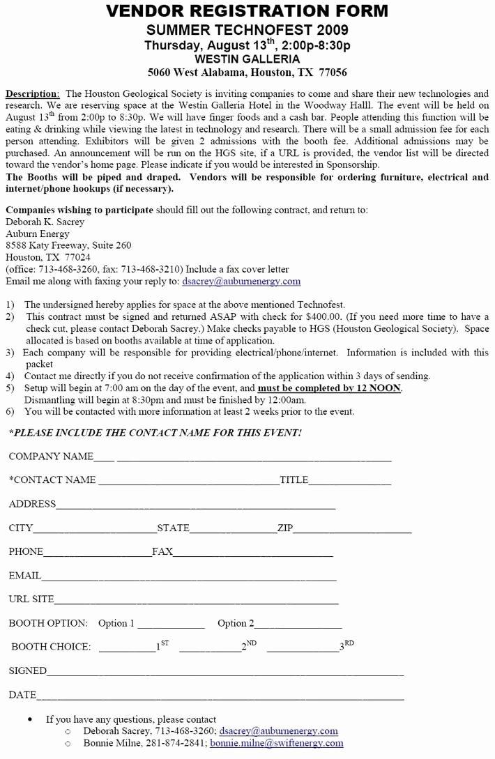 Event Vendor Registration form New Hgs Technofest 2009