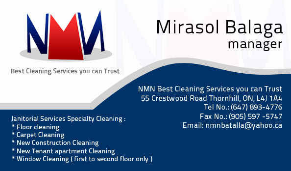 Examples Of Cleaning Business Cards Awesome Nmn Janitorial Services Business Card Felias Designs Affordable Corporate Quality Logo