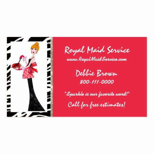 Examples Of Cleaning Business Cards New Housekeeping Business Cards