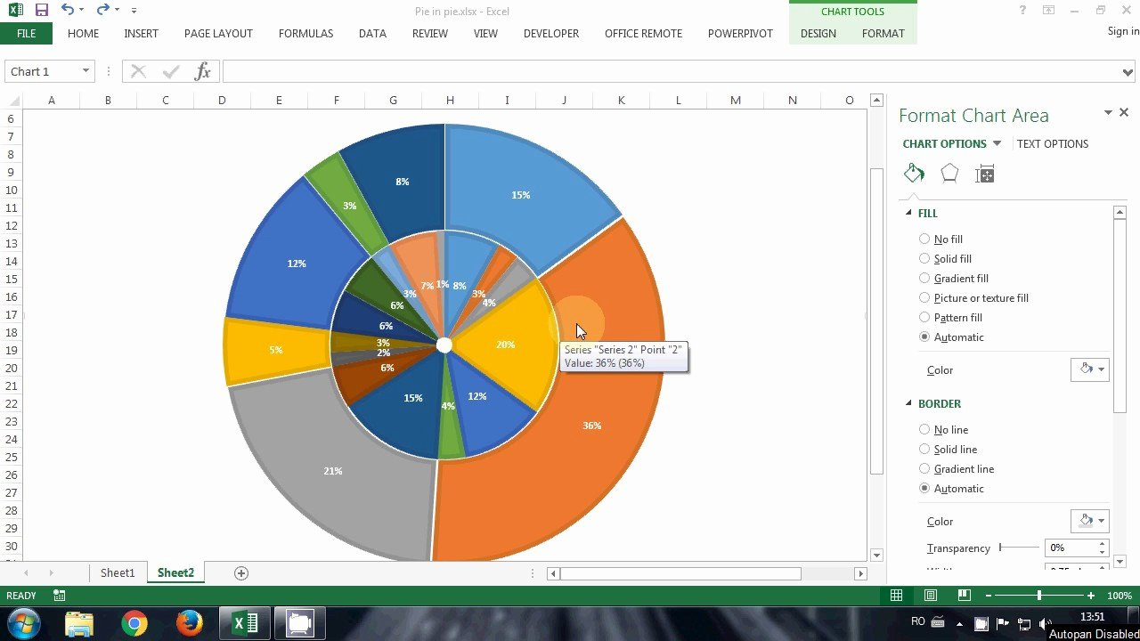 Excel Pie Chart Templates Lovely Howto Multilevel Pie In Excel