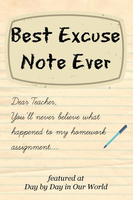 Excuse Note for School Fresh Writing Sample Best Excuse Note Ever