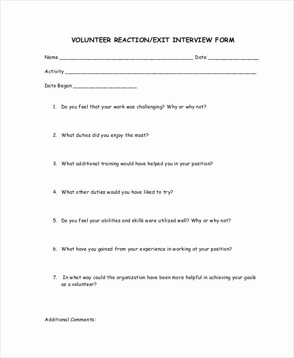 Exit Interview form Pdf Best Of Exit Interview Template