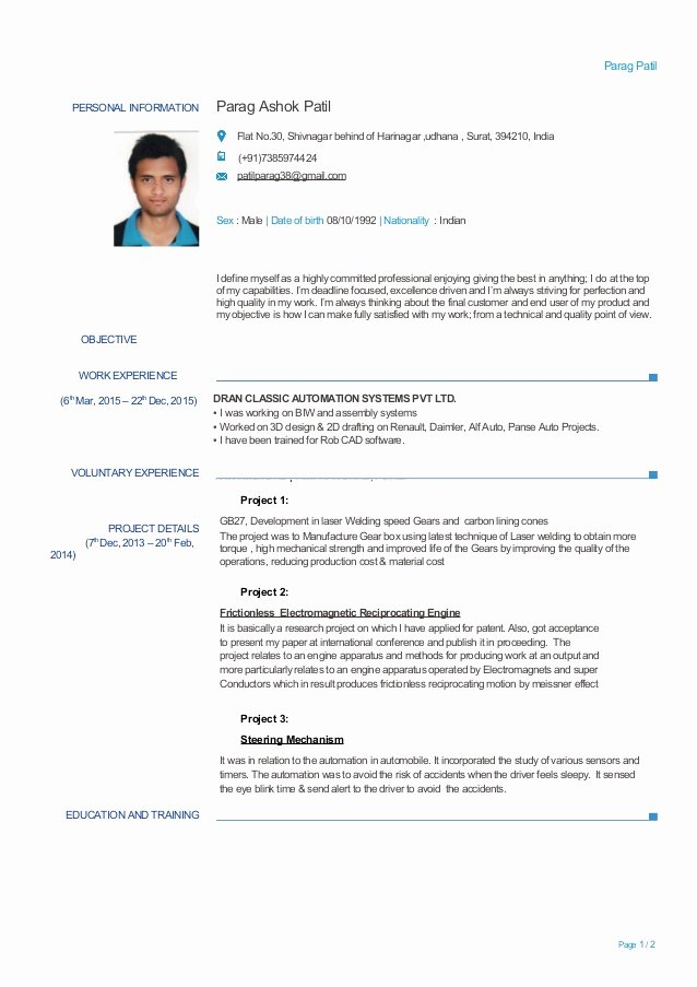 Experienced Mechanical Engineer Resume Beautiful Experienced Mechanical Engineer Resume