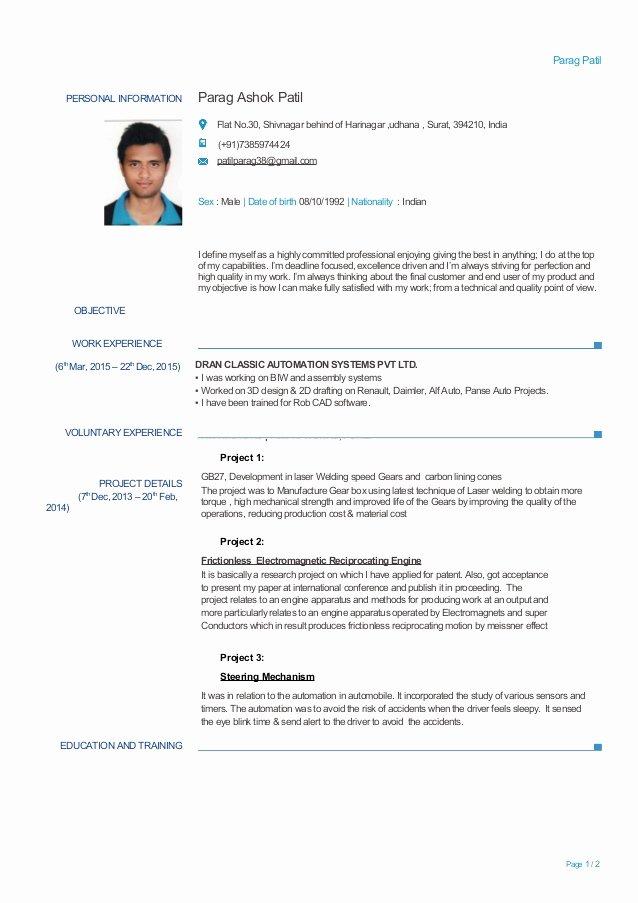 Experienced Mechanical Engineer Resume Beautiful Experienced Mechanical Engineer Resume