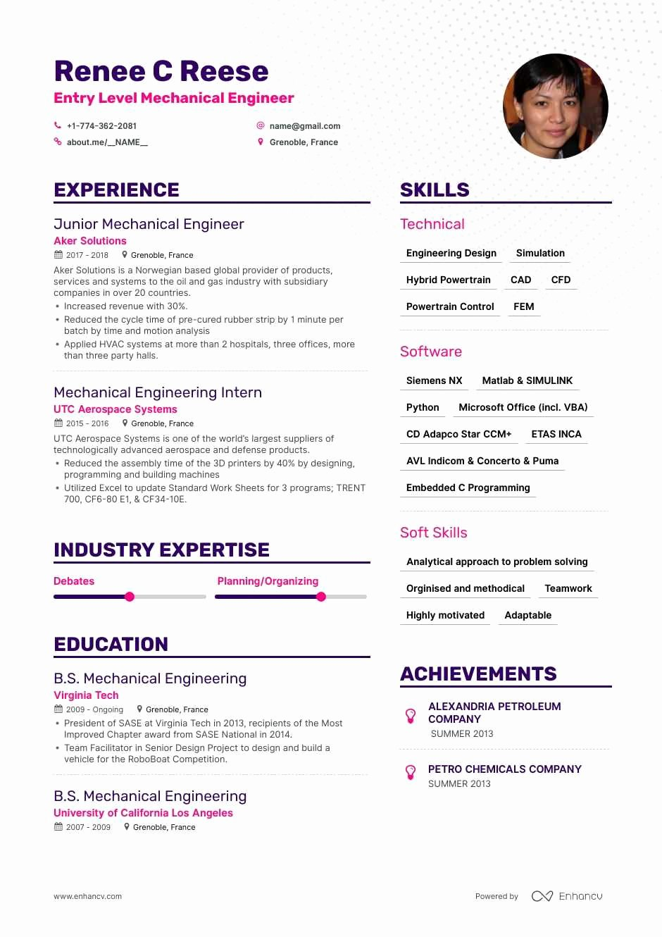 Experienced Mechanical Engineer Resume Inspirational Entry Level Mechanical Engineer Resume Samples and 6 Examples