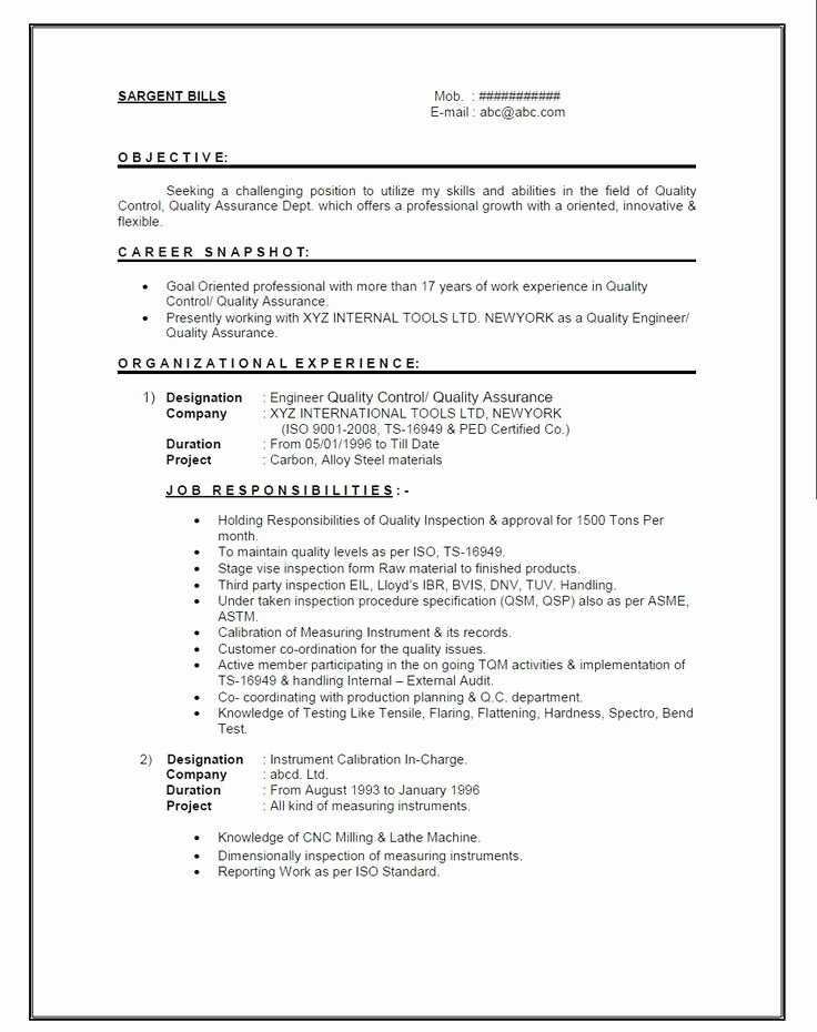 Experienced Mechanical Engineer Resume Lovely Resume format for 1 Year Experienced Mechanical Engineer It Presentation