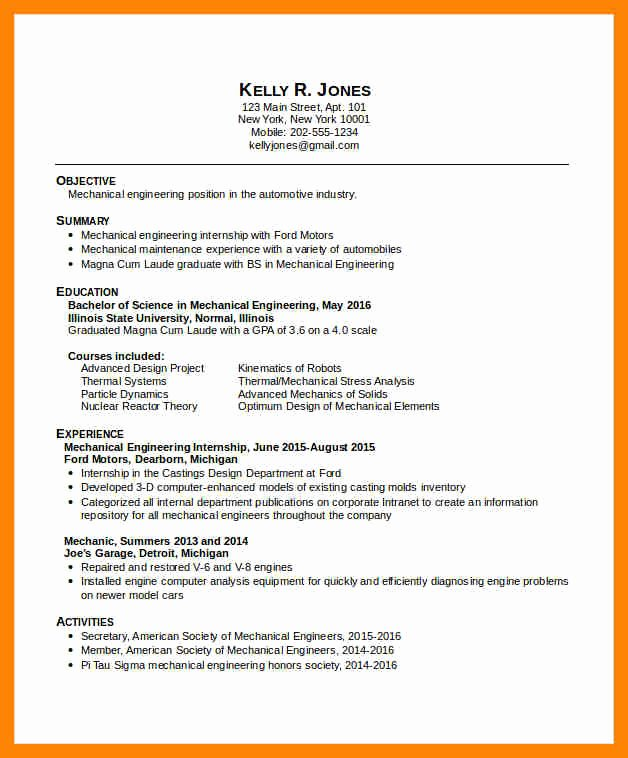 Experienced Mechanical Engineer Resume New 8 Mechanical Engineer Resume