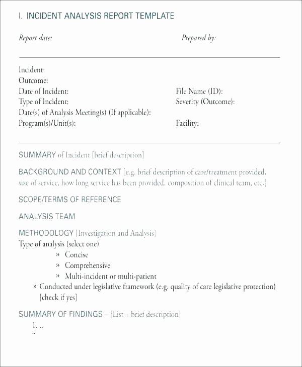 Failure Analysis Report Template Elegant Free Root Cause Analysis Template Failure Report Ideas for Effective Templates forms Examples