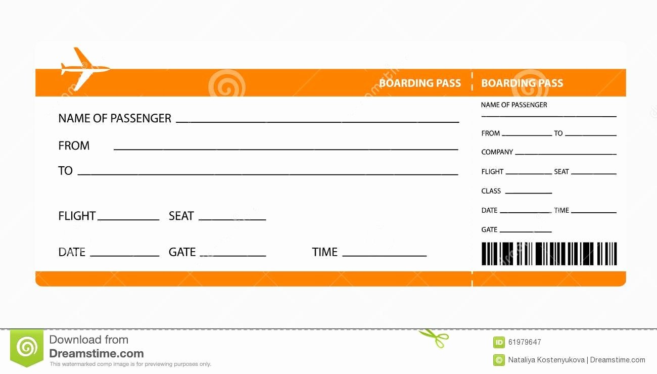 Fake Boarding Pass Template Beautiful Airline Ticket Template