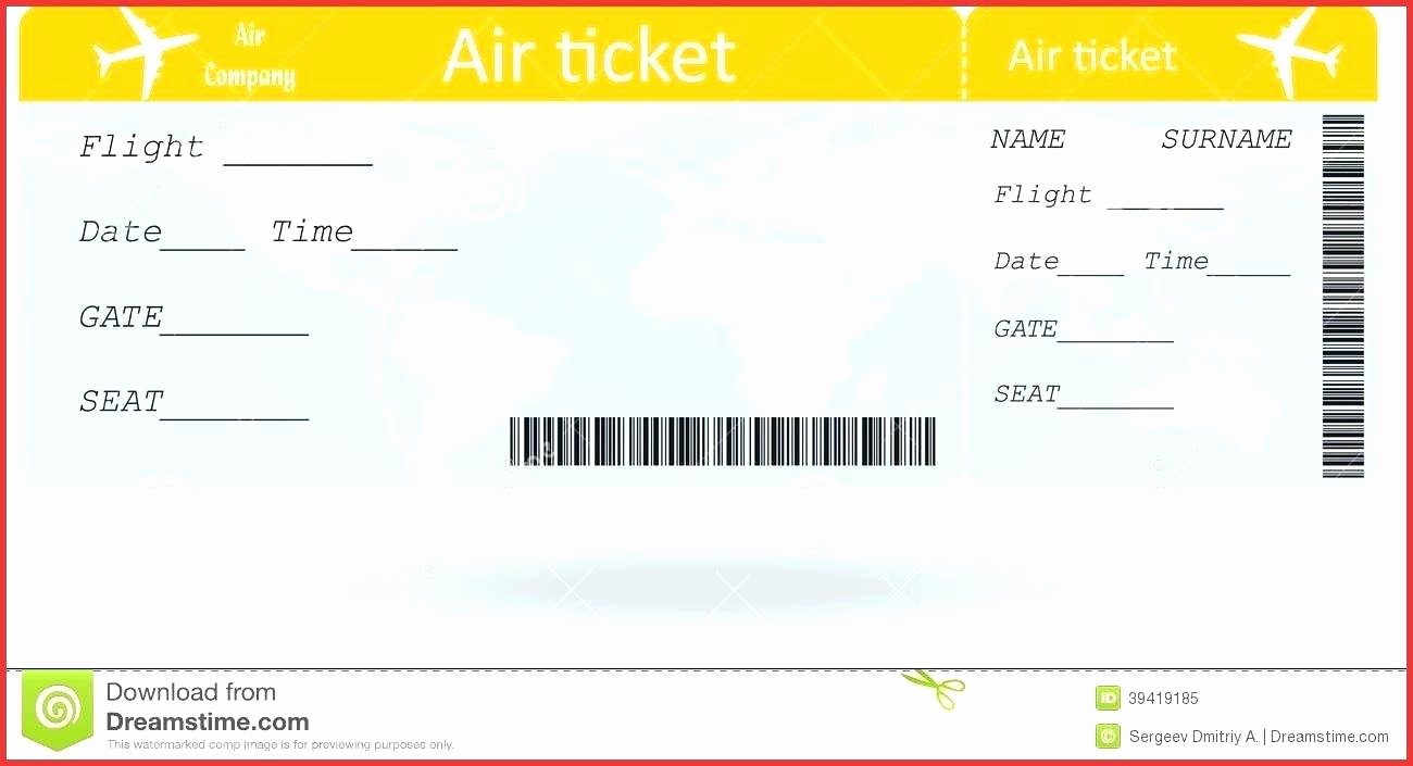 Fake Boarding Pass Template Best Of Fake Boarding Pass