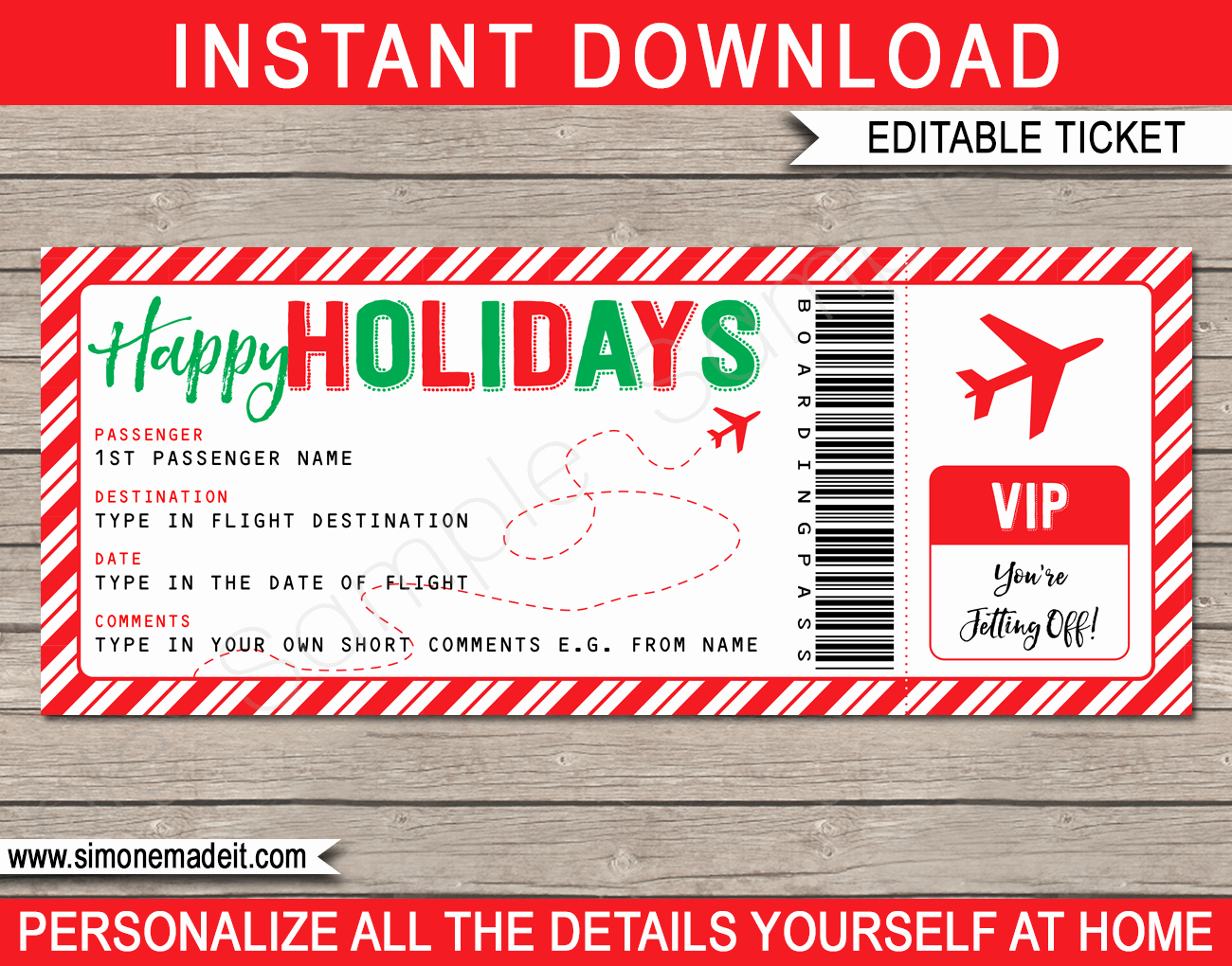 Fake Boarding Pass Template Best Of Holiday Boarding Pass Ticket Template