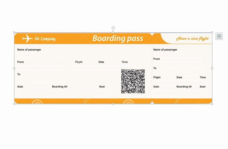 Fake Boarding Pass Template Elegant Boarding Pass Template