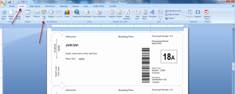 Fake Boarding Pass Template Lovely Boarding Pass Templates for Invitations & Gifts