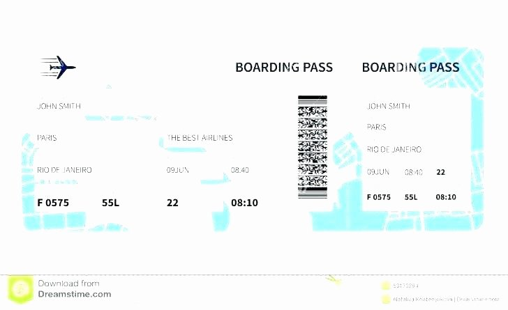 Fake Boarding Pass Template Luxury Fake Boarding Pass Template