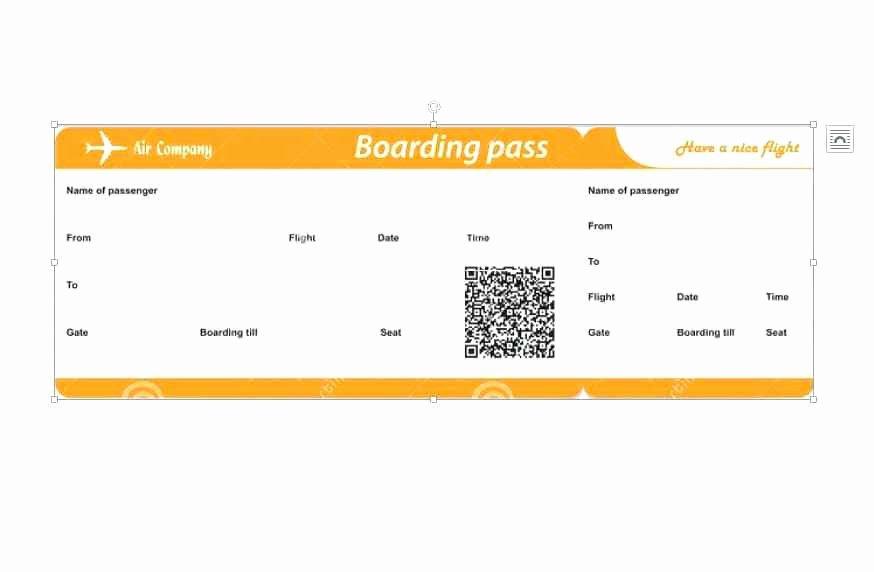 Fake Boarding Pass Template Unique Pretend Flight Tickets – Moontex