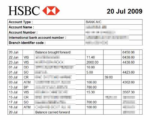 Fake Chase Bank Statement Awesome Bank Statements From the Last 3 Months Showing You Have the Funds to Support You when You are In