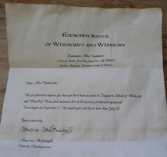 Fake College Acceptance Letter Maker Awesome 95 Best Birthday Harry Potter Images On Pinterest