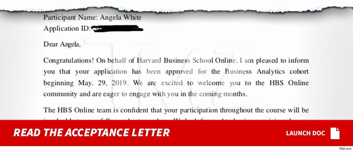 Fake College Acceptance Letter Maker Fresh Blac Chyna Admitted to Class at Harvard Line Business School