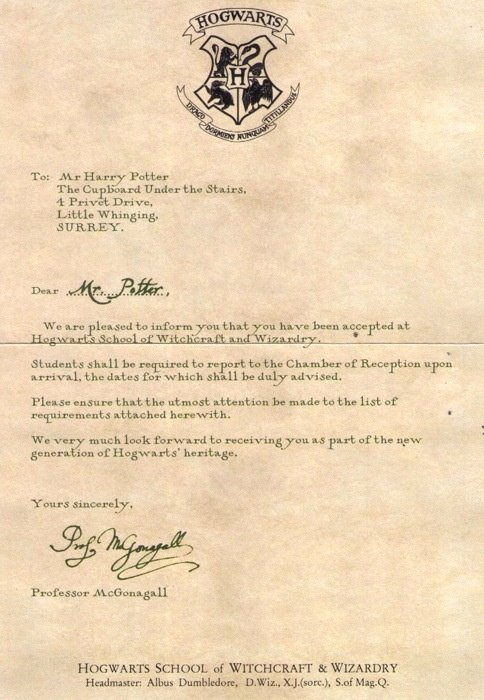Fake College Acceptance Letter Maker Unique 8 Best Images About Hogwarts Acceptance Letter On Pinterest
