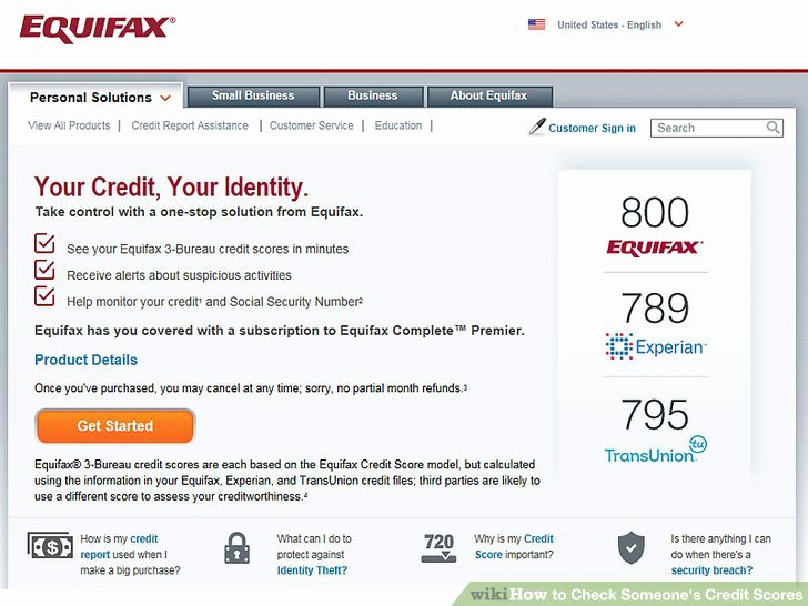 Fake Credit Report Generator Unique 3 Ways to Check someone S Credit Scores Wikihow