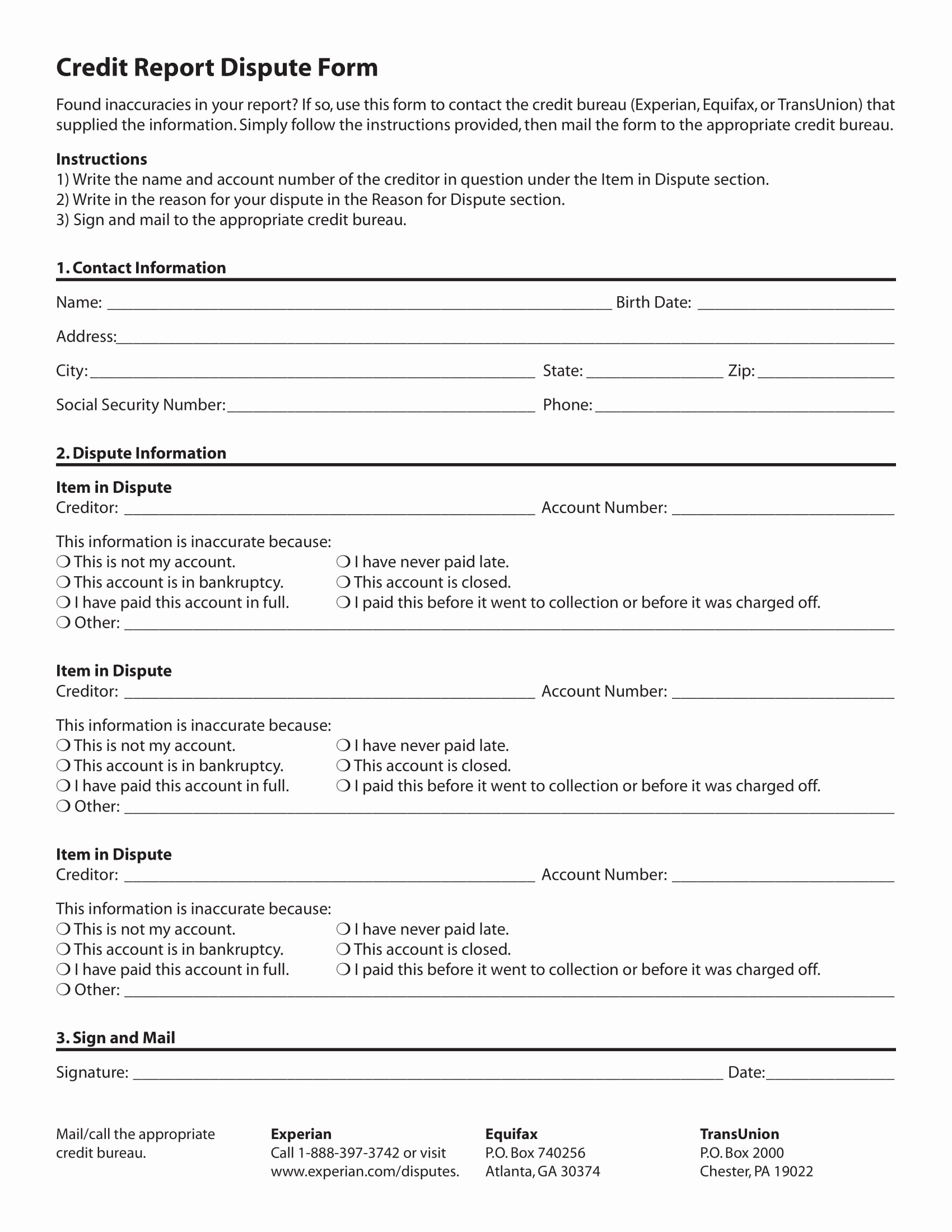 Fake Credit Report Template Best Of 12 Credit Report forms Pdf