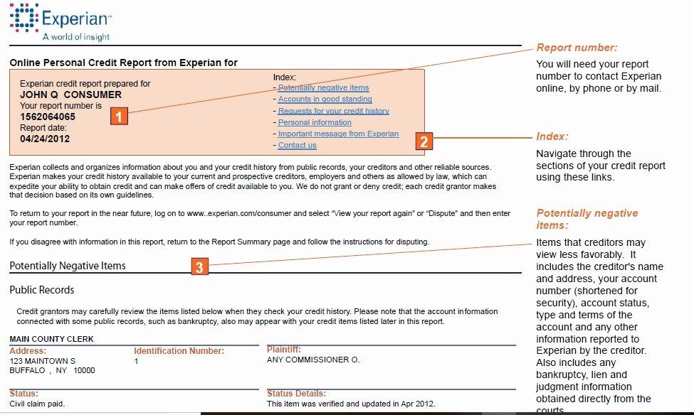 Fake Credit Report Template New Sample Credit Report How to Your Fake Credit Report