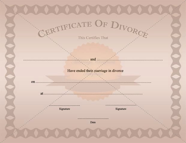 Fake Divorce Certificate Maker Awesome Divorce Certificate Template Printable