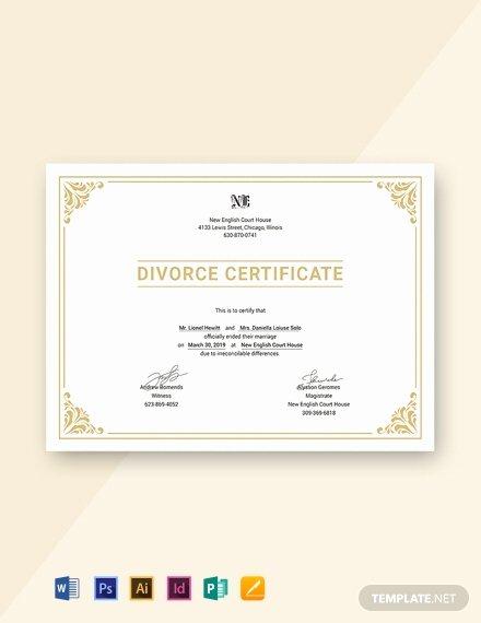 Fake Divorce Certificate Maker Beautiful 27 Free Custom Certificate Templates In Microsoft Word