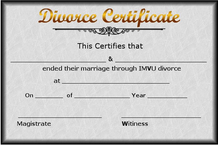 Fake Divorce Certificate Maker Fresh Best S Of Printable Divorce Certificate Divorce