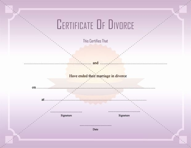 Fake Divorce Certificate Maker Unique Divorce Decree Certificate Template Printable