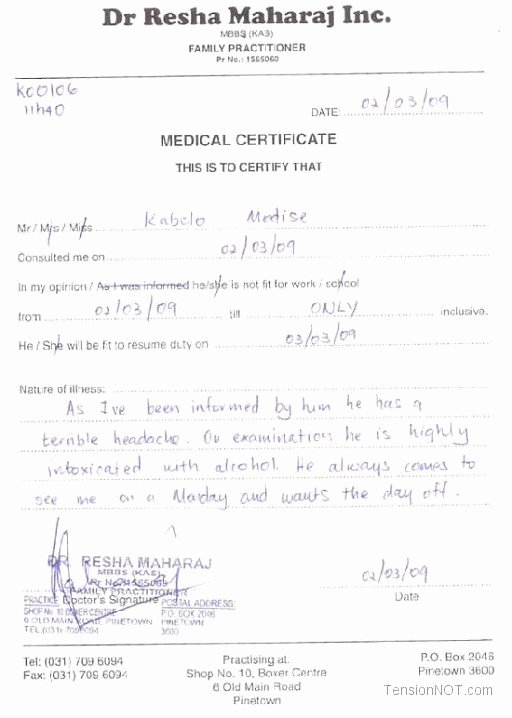 Fake Medical Bills format Luxury Fake Doctors Note Template Free Doctor Excuse Pdf Sick Doc Notes Pdf