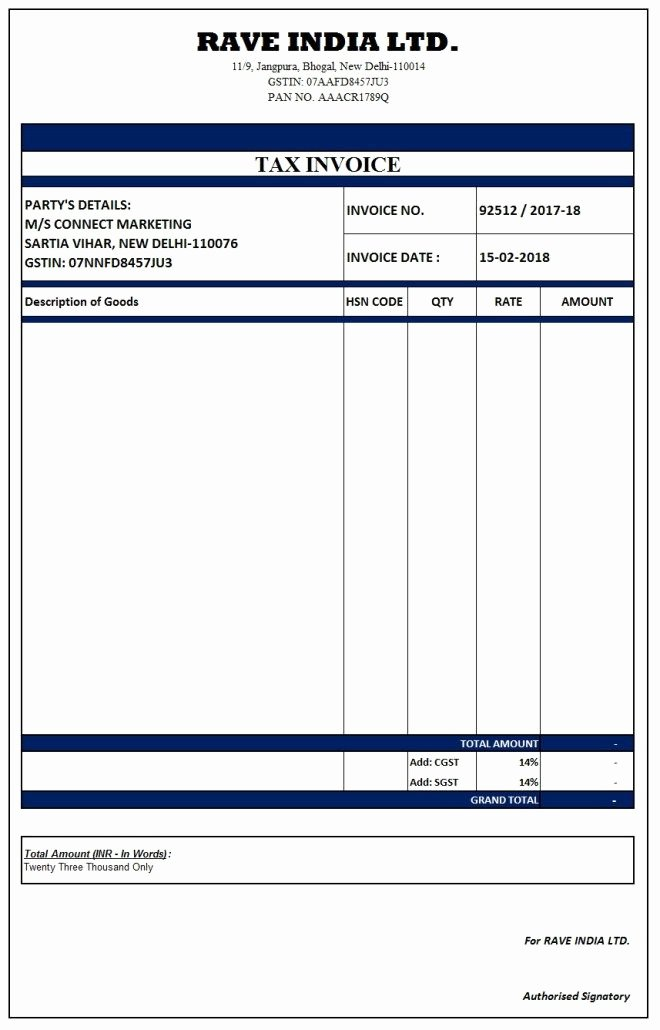 Fake Medical Bills format Unique Image Result for Simple Gst Invoice format In Excel