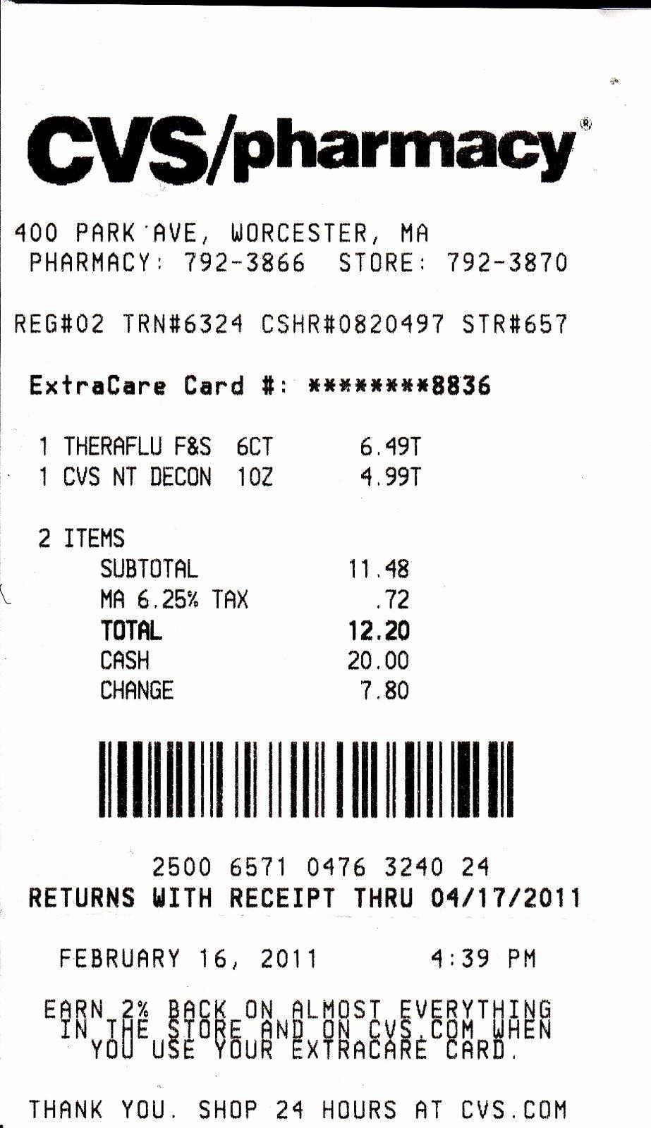 Fake Prescription Label Generator Best Of My Life Scanned Cvs Receipt