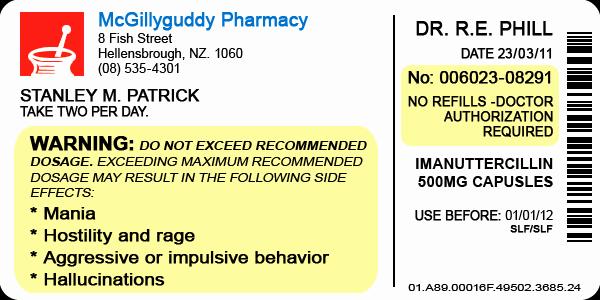 Fake Prescription Label Generator Unique Pill Bottle Label by Lastgambit On Deviantart