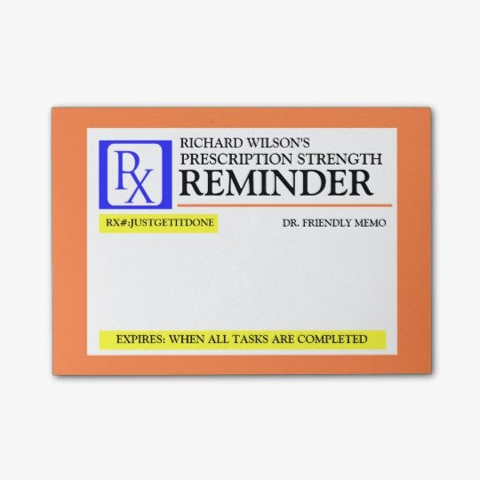 Fake Prescription Label Template Fresh Funny Prescription Label Post It Notes